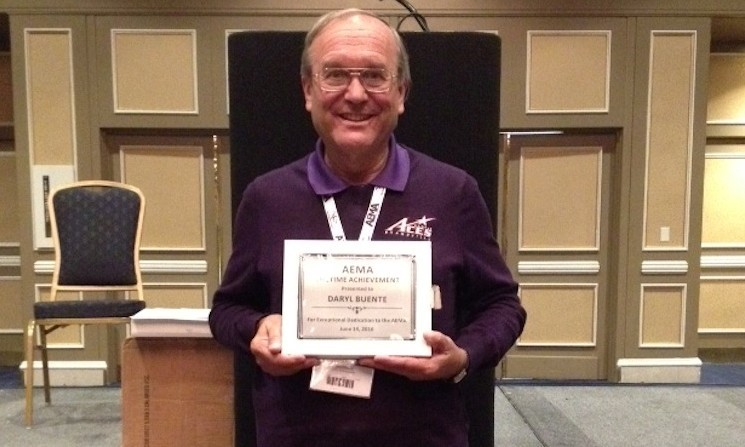 Buente Presented With Aema Lifetime Achievement Award University